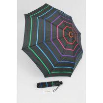 Happy Rain gestreifter Automatik Regenschirm Taschenschirm Stripe 04 46852