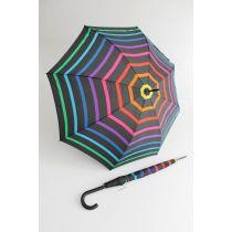 Happy Rain gestreifter bunter Stockschirm Stripe 01