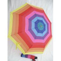 Happy Rain gestreifter Regenschirm Automatik Taschenschirm