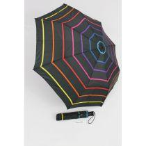Happy Rain gestreifter Regenschirm Taschenschirm Stripe 03