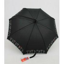 Nex moderner Regenschirm Stockschirm Motivschirm  Umhängeschirm Damen 012 Katzen