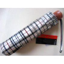 Pierre Cardin Automatik Regenschirm karo beige Taschenschirm
