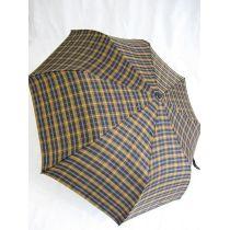 Pierre Cardin Automatik Regenschirm karo blau/braun Taschenschirm