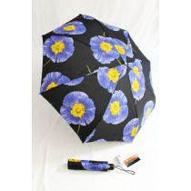 Pierre Cardin blau geblümter Regenschirm Automatikschirm