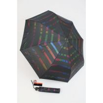 Pierre Cardin gestreifter Regenschirm für Damen Metallic