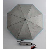 Pierre Cardin grauer Regenschirm Automatik Taschenschirm Damen Punkte