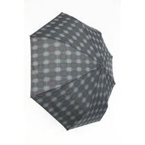 Pierre Cardin karierter Automatik Regenschirm für Herren Voltaire 04