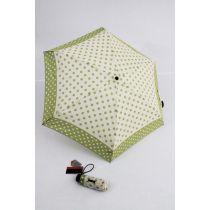 Pierre Cardin kleiner Regenschirm 18 cm Punkte hellgrün Minischirm