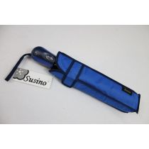 SUSINO blauer Regenschirm Taschenschirm UNI Damenschirm
