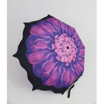 Susino geblümter Regenschirm Automatik lila Taschenschirm Damen 12
