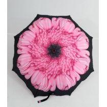 Susino geblümter Regenschirm Automatik rosa Taschenschirm Damen 04
