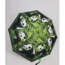 Susino Regenschirm Automatik Taschenschirm Damen Pandabär windproof 3561