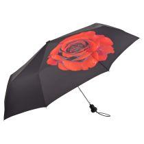 Von Lilienfeld Regenschirm rote Rose geblümter Taschenschirm