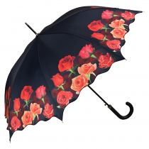 Von Lilienfeld Regenschirm Stockschirm  Damen Rosenbouquet