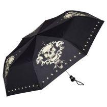 Von Lilienfeld Taschenschirm Motivschirm Skull Damen Herren Gothic Regenschirm