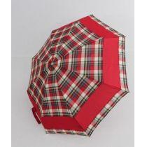 Zest kleiner Automatik Regenschirm  ca. 23 cm rot karierter Taschenschirm 06