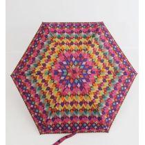 Zest Mini Regenschirm flacher Regenschirm 17 cm bunter Damenschirm 25566-04