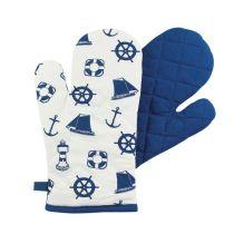 ** 2 Stück- Maritim Design - Ofen-/Grill-Handschuh- gesteppt