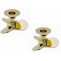**2 Stück- Maritimer Kerzenständer-Schraube- Messing- 10 cm