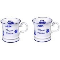 2 Stück- Porzellan- Tasse, Kaffeepott, Becher - Rügen- maritim -deutsches Produktdesign