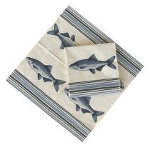 **20X Maritim- Fisch- Servietten- 2 Größen- 40/ 20 cm