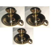 **3X Kerzenständer aus Messing mit Tragering 9,5 cm