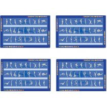 **4X Tischset Platzset Platzdeckchen Unterlage-maritim-Knoten-französisch -43 cm