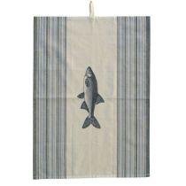 ** 5X Maritim- Fisch- Geschirrtuch- Übergröße 70 cm
