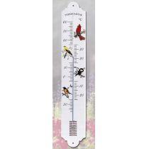 Dekor Vögel- Großes robustes DEKOR- Thermometer 700 mm- Metall- Außen- Made Germany