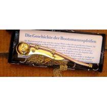**Edle Signal/Bootsmannspfeife Kupfer incl. Geschichte