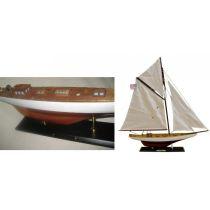 **Edle Yacht, Segelschiff, Schiffsmodel COLUMBIA 60 cm- Stoffsegel, Holz
