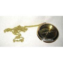 **Edler Kompass  6 cm mit Kette und Ankergravur aus Messing