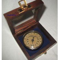 **Edler Sonnenuhr- Kompass- Antik-Messing in Holzbox