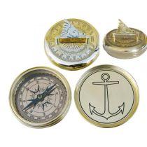 **Edler Sonnenuhr- Kompass- Messing- 75 mm