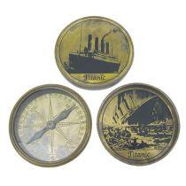 **Edler, schwerer Marine Kompass mit Prägung TITANIC- Antiklook- massiv
