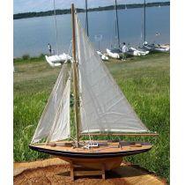 **Große Yacht, Segelschiff, Schiffsmodel Segelyacht Holz 80 cm