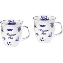 Jumbo 2 Stück- Porzellan- Tasse, Kaffeepott, Becher - Rügen- maritim -deutsches Produktdesign