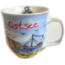 Jumbo Porzellan- Große Tasse, Kaffeepott, Becher- Ostsee maritim- deutsches Produktdesign
