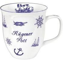 Jumbo Porzellan- Tasse, Kaffeepott, Becher- maritim Rügen -deutsches Produktdesign