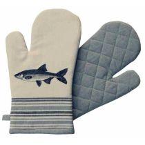 ** Maritim- Fisch- Ofen-/Grill-Handschuh - gute Wärmeisolierung