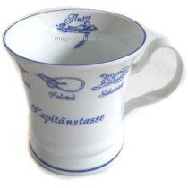 Maritim Porzellan- Tasse, Kaffeepott, Becher- Kapitän- Innendruck Ebbe und Flut -deutsches Produktde