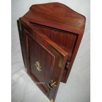 **Maritimer Schlüsselkasten- Ankermotiv aus Holz und Messing