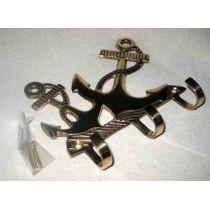 **maritimer Wandhaken- Schlüsselhaken- aus massiv Messing incl. Schrauben 12,5 cm