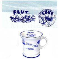 Mini - Porzellan- Tasse, Schnapspöttchen, Espresso, Becher- Moin Moin -deutsches Produktdesign