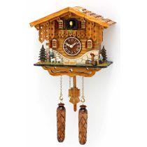 Orig. Schwarzwald- Kuckucksuhr Heidihaus mit 12 Melodien, Kuckuck -Cuckoo Clocks