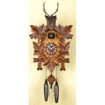 Orig. Schwarzwald- Kuckucksuhr mit Hirschkopf - Cuckoo Clock- handmade Germany Black Forest