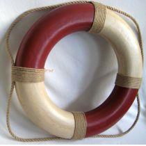 **Rettungsring- rot/weiß 36 cm, Antikdesign