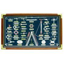XL- Knotentafel mit englischen Knotennamen- unter Glas- 73 cm