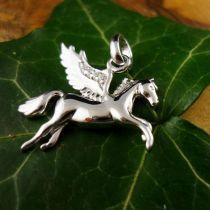 Anhänger Pferd / Pegasus, Silber 925 rhod.