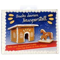 """Back-Set """"Knusperstall"""", Ausstechform Pferd - Stute und Fohlen"""